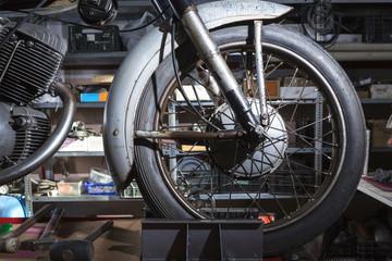 motorbike wheel.