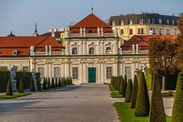 Belveder Castle with park-Belveder,Vienna, Austria