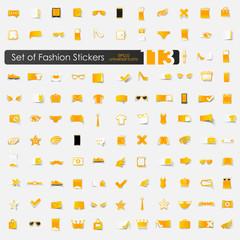 Set of fashion stickers