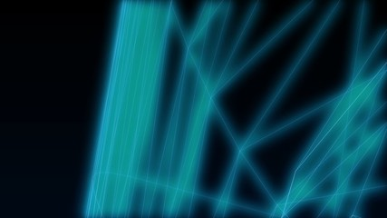 Abstract blue glowing lines on the dark blue background