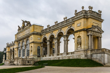 Colonade at Schonbrunn royal castle-Vienna,Austria