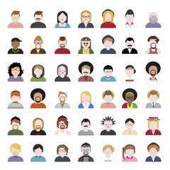 People Diversity Portrait Design Avatar Vector Concept