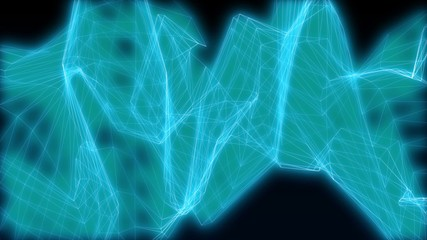 Energy abstract blue lines on the dark blue background