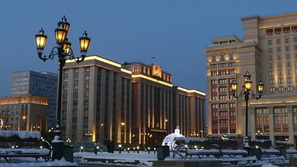 Зимний городской пейзаж