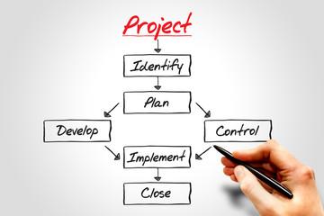 PROJECT flow chart, business concept process
