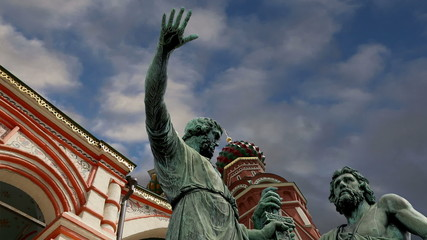 Minin and Pojarsky monument, Red Square in Moscow, Russia