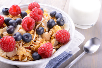 Muesli with soft fruits