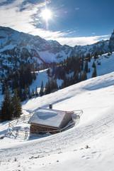 Schneelandschaft am Breitenberg