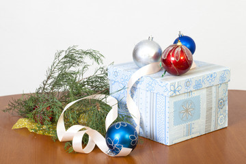 Spheres for an ornament of a fur-tree and a gift in beautiful p