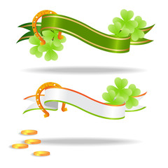 Good luck or st. Patrick's day banners