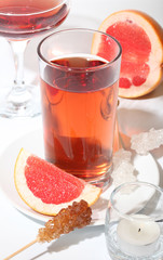 Fruit tea with grapefruit