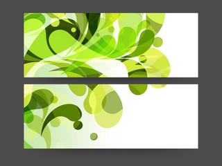 Stylish website header or banner set.