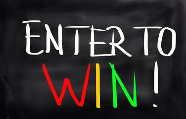 Enter To Win Concept