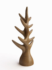 Wooden Tree Statuette