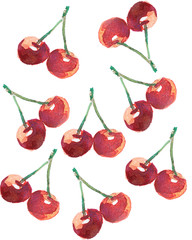 the cherry drawind for background