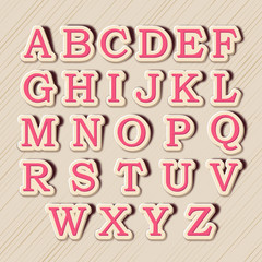 Set of English alphabets in capital letter.