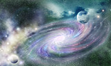 spiral galaxy in universe - 76887312