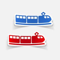 realistic design element: train