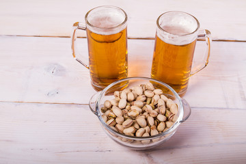 Beer and snack nuts