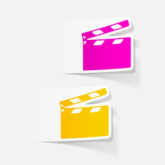 realistic design element: clapper cinema