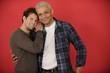 Portrait of happy gay multiethnic couple