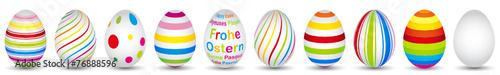 10 colourful easter eggs in modern design - 76888596