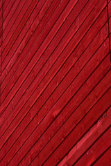 Red Wooden Planks on Building