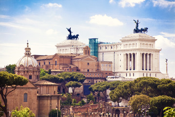 View to Rome, Italy