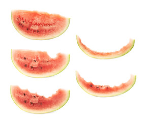 Slice of a watermelon isolated