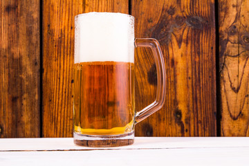 Beer on a wooden table