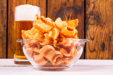 Beer snack chips and nuts