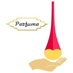 perfume and hand