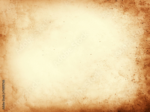 Old dirty parchment paper background texture - 76891768
