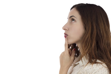 Woman deciding