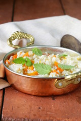 rice with vegetables cooked in Indian style