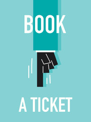 Words BOOK A TICKET