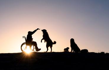 engelli insanın hayvan sevgisi