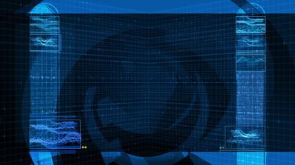 High Tech Data Background (4k Loop)