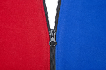 Red White And Blue Zipper