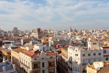 View of historical center of Valencia