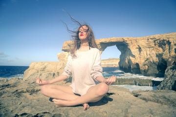 Meditation at the seaside