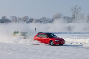 Winter ice race