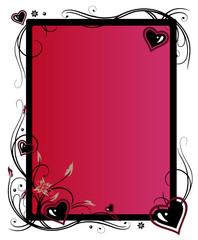 Valentinstag, Rahmen, Herzen, Liebe
