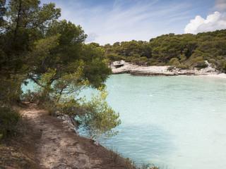 View of Turqueta beach (cala Turqueta)
