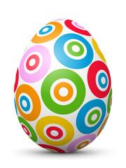 Osterei, Ei, Ostern, gepunktet, Muster, Textur, weiß, Hühnerei