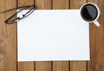 Paper and Coffee On Desk