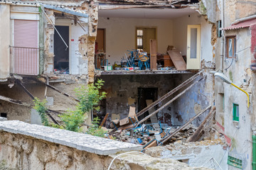 House collapse in Agrigento old town