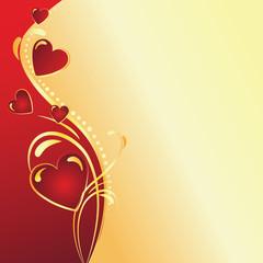 Valentine's day wave background
