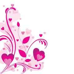 Valentine's day illustration card