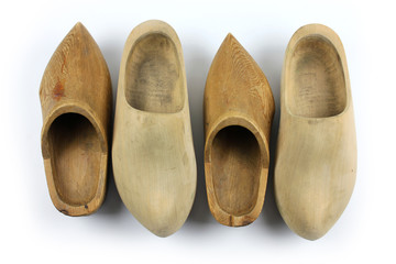 Wooden shoes - clogs, two pairs